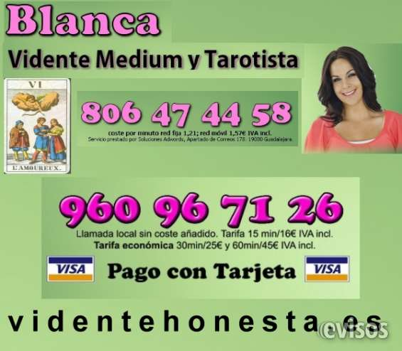 Vidente blanca 960967126 consulta tarot completa visa 30 min por 25 €