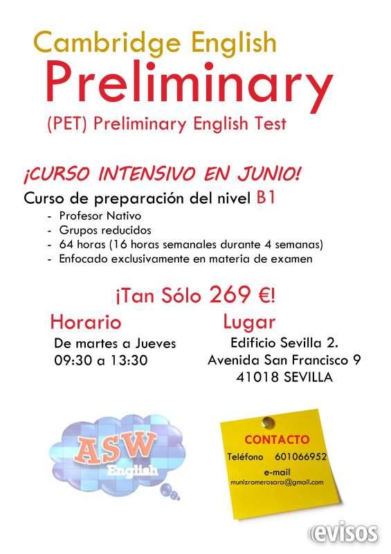 Curso intensivo de inglés en junio