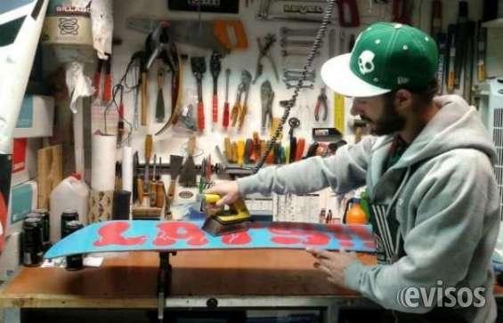 Reparación y encerado tablas snowboard y ski