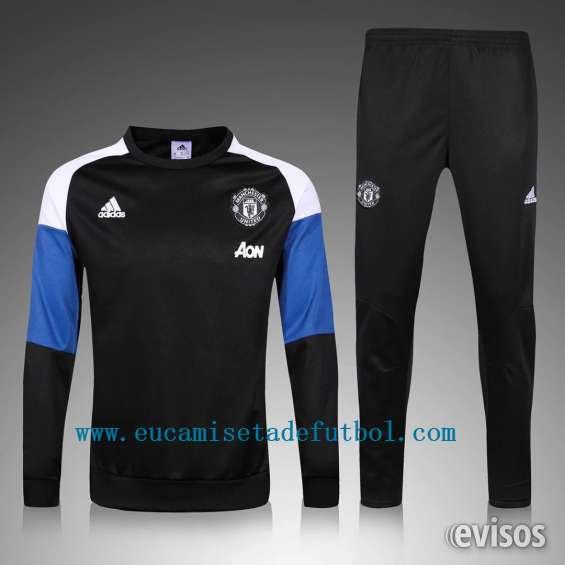 Manchester united 2017 negro y azul chandal de futbol con pantalones 43eur gratis envio
