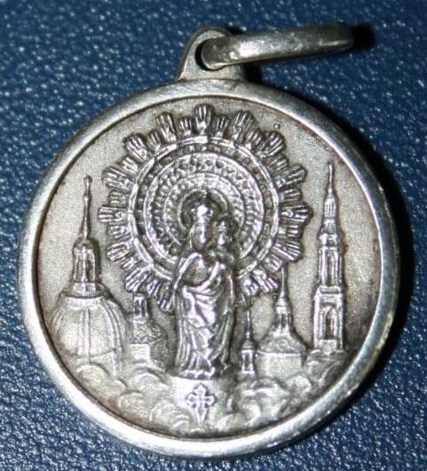 Medallas virgen pilar en oro y plata