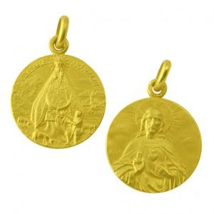 Medallas virgen de aranzazu arantxa en oro o plata