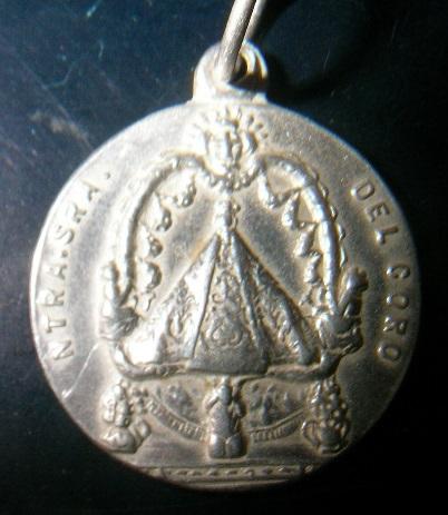 Medalla virgen del coro en oro o en plata