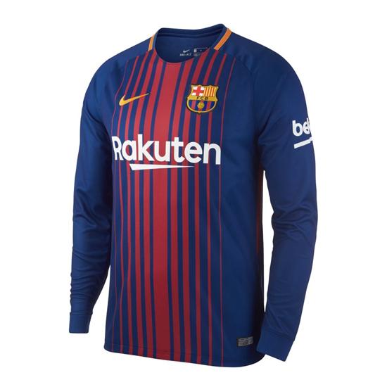 Camiseta barcelona primera manga larga 2017-2018