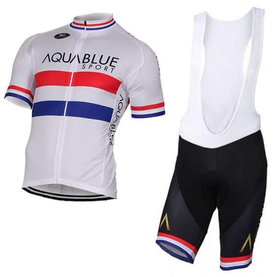Ropa de ciclismo aqua blue sport british 2017 blanco