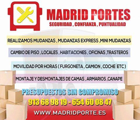 Aprovecha!mudanzas madrid+ofertas 65(4)60(08)47 portes arganzuela