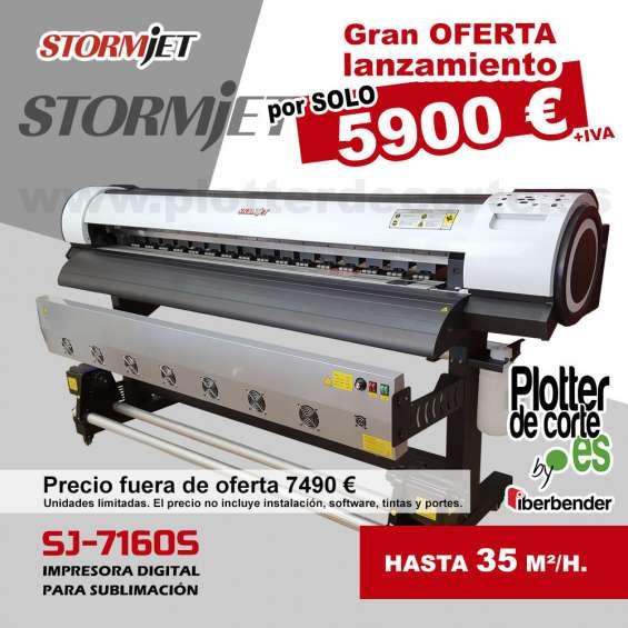 Impresora de sublimcion stormjet sj7160s 160cm cabezal epson
