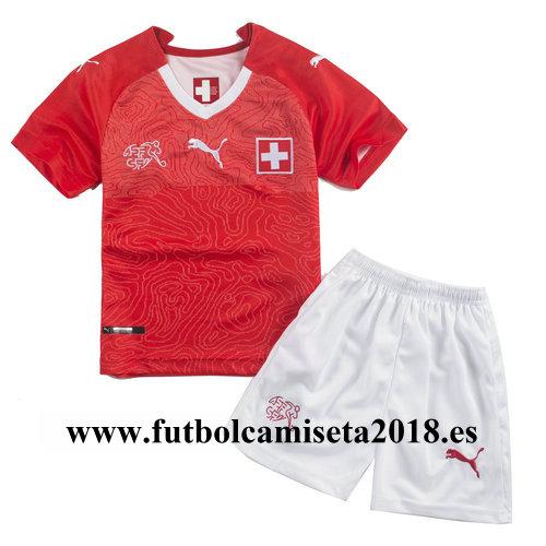 Camiseta nino suiza primera equipacion 2018
