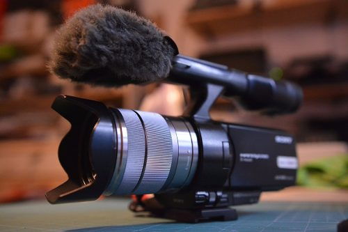 Cámara de vídeo sony nex-vg10 hd1080 14mp