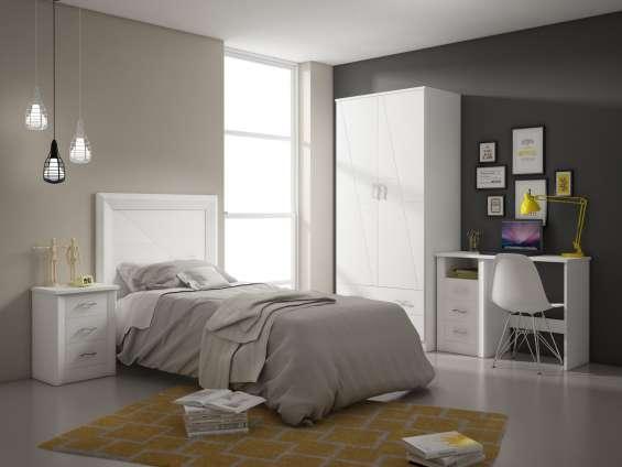 Dormitorio juvenil lacado nuevo de fabrica