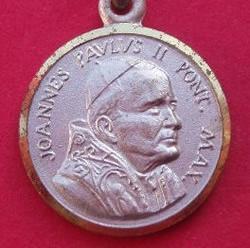 Medalla juan pablo ii,en oro o en plata