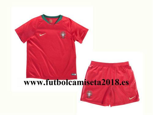 Camiseta nino portugal primera equipacion copa mundial 2018