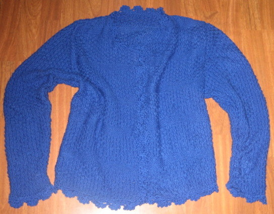 Chaqueta artesanal color azulon