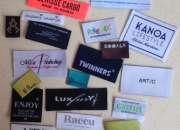 Etiquetas ropa tejidas de alta calidad