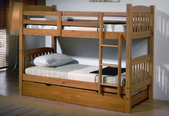Litera maciza de 3 camas nueva de fabrica
