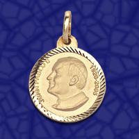 Fotos de Medalla juan pablo ii,en oro o en plata,distintos modelos 3