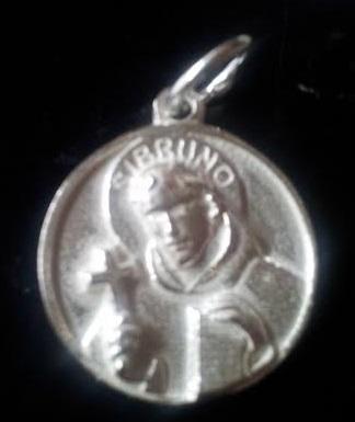 Medalla san bruno de plata,distintos tamaños