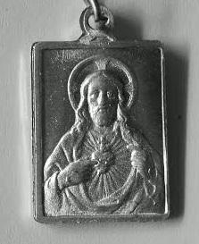 Medalla sagrado corazon de maria en oro y plata,distintos modelos