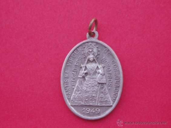 Medalla virgen de la consolación oro y plata,distintos modelos