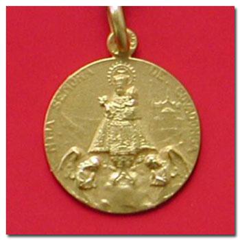 Medalla y cruz virgen de covadonga en oro y en plata,distintos modelos