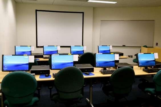Alquiler de aulas informáticas de diferentes tamaños por días y horas en barcelona