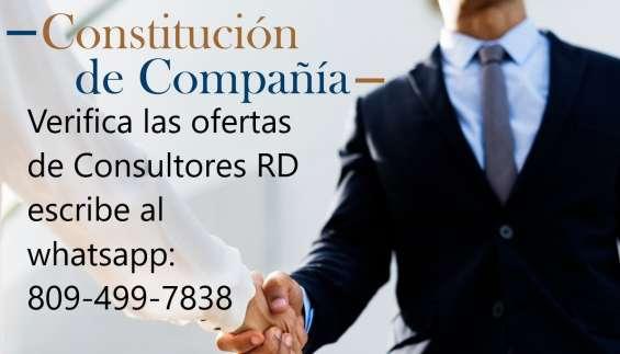 Constitución de compañía
