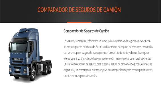 Comparador de seguros camiones