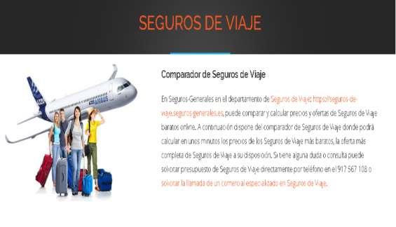 Comparador de seguros de viajes
