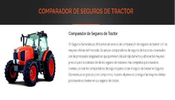 Compardor de seguros de tractor