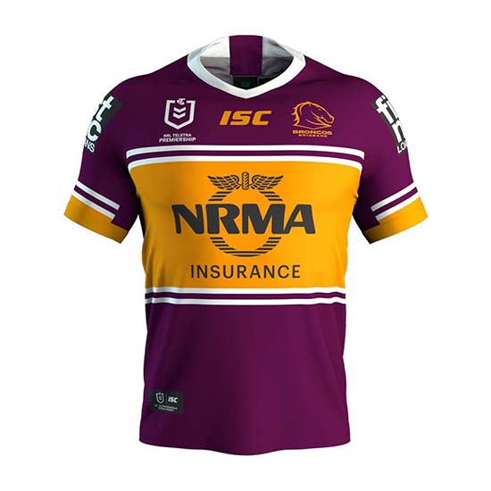 Brisbane broncos - camiseta de rugby 2018-19 replicas barata