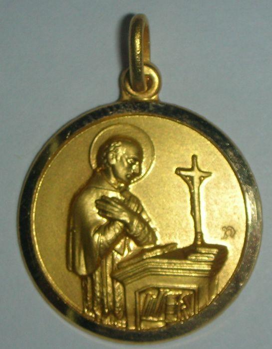 Medalla san carlos borromeo en oro o en plata
