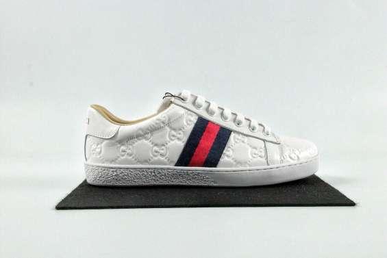 Gucci clásico abejita zapatos blancos. 35-44