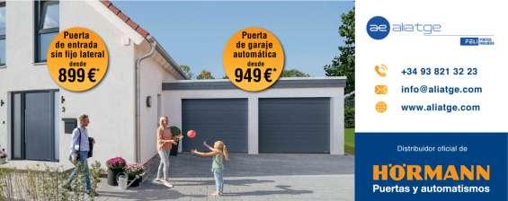 Puertas de entrada y de garaje