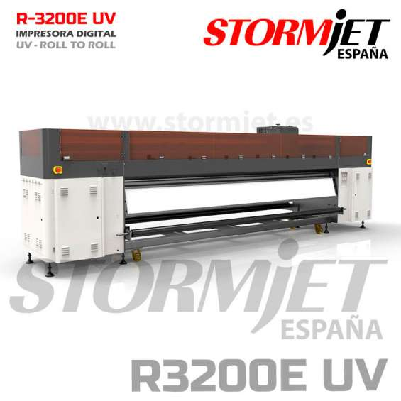 Impresora uv 320cm profesional stormjet r3200 impresion en vinilo lona papel oferta limita