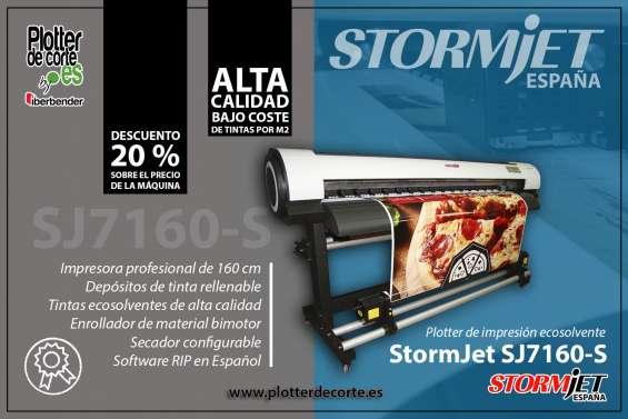 Stormjet sj7160 impresora ecosolvente gran formato lona vinilos papel polipropileno canvas
