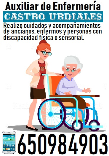 Realizo cuidado de ancianos e incapacitados en castro urdiales