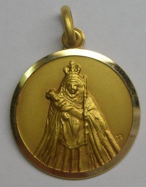 Medalla virgen de la candelaria