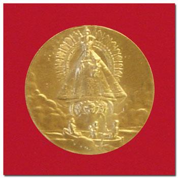 Medallas virgen caridad del cobre