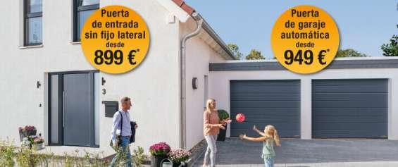 Oferta en puertas de garaje y de entrada lateral desde 899€