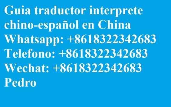 Interprete traductor guia chino español en shanghai china #