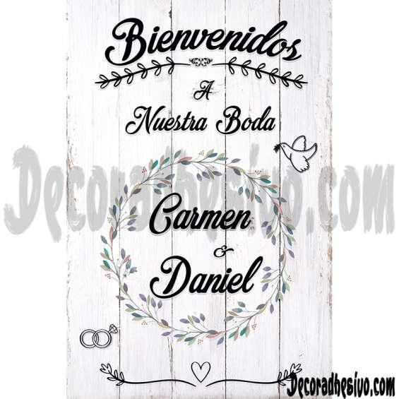 Pancarta en lona para bodas
